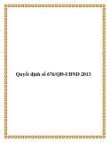 Quyết định số 676/QĐ-UBND 2013