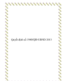 Quyết định số 1940/QĐ-UBND 2013