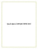 Quyết định số 209/QĐ-UBND 2013