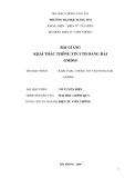 Bài giảng Khai thác thông tin VTĐ hàng hải GMDSS - ĐH Hàng Hải