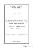 Tóm tắt luận văn thạc sĩ: Phát triển dịch vụ thanh toán trong nước tại ngân hàng Thương mại Cổ phần Công thương Việt Nam - Chi nhánh Kon Tum