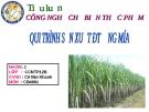 Thuyết trình Tiểu luận công nghê thực phẩm: Quy trình sản xuất đường mía