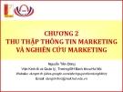 Bài giảng Marketing cơ bản (Nguyễn Tiến Dũng) - Chương 2