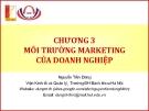 Bài giảng Marketing cơ bản (Nguyễn Tiến Dũng) - Chương 3