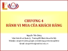 Bài giảng Marketing cơ bản (Nguyễn Tiến Dũng) - Chương 4