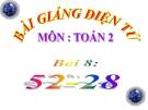 Bài giảng 52-28 - Toán 2 - GV.Lê Văn Hải