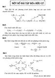 Một số bài tập Hóa hữu cơ