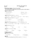 Đề kiểm tra 1 tiết Toán 12 chương 3 phần Giải tích