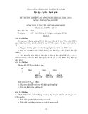 Đề thi tốt nghiệp và đáp án CĐ nghề khoá 2 môn Điện công nghiệp (2008-2011) - Mã: ĐCN - LT 08 - Phần lý thuyết