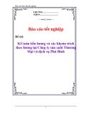 Báo cáo tốt nghiệp: Kế toán tiền lương và các khoản trích theo lương tại Công ty sản xuất Thương Mại và dịch vụ Phú Bình
