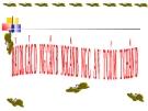Slide bài Các dạng cân bằng. Cân bằng của một vật có mặt chân đế - Vật lý 10 - L.N.Ngọc