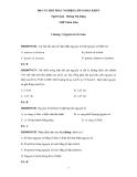 200 Câu hỏi trắc nghiệm môn Hóa lớp 10 Ban KHTN - Trường THPT Kim Liên