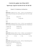 Câu hỏi trắc nghiệm môn Hóa học lớp 10 ban KHTN - Nguyễn Xuân Hòa