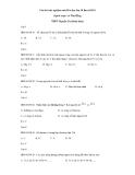 Câu hỏi trắc nghiệm môn Hóa học lớp 10 Ban KHTN - Trường THPT Nguyễn Thị Minh Khai