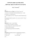Câu hỏi trắc nghiệm môn Hóa học lớp 10 ban KHTN - Nguyễn Văn Hòa (Chương 5)