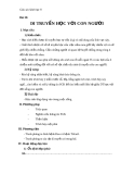 Giáo án Sinh học 9 bài 30: Di truyền học với người
