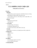 Giáo án Sinh học 9 bài 36: Các phương pháp chọn lọc