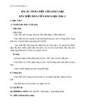 Giáo án Hóa học 12 bài 18: Tính chất của kim loại, dãy điện hóa của kim loại
