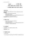Giáo án Hóa học 11 bài 19: Luyện tập - Tính chất của Cacbon, Silic và các hợp chất của chúng