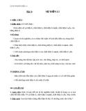 Giáo án Hóa học 11 bài 1: Sự điện ly