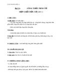 Giáo án Hóa học 11 bài 21: Công thức phân tử hợp chất hữu cơ