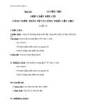 Giáo án Hóa học 11 bài 24: Luyện tập - Hợp chất hữu cơ, công thức phân tử và công thức cấu tạo