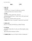 Giáo án Hóa học 12 bài 2: Lipit