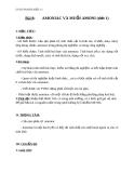 Giáo án Hóa học 11 bài 8: Amoniac và muối amoni