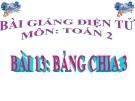 Bài giảng Bảng chia 3 - Toán 2 - GV.Lê Văn Hải