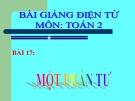 Bài giảng Một phần tư - Toán 2 - GV.Lê Văn Hải