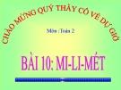 Bài giảng Mi-li-mét - Toán 2 - GV.Lê Văn Hải