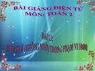 Bài giảng Phép trừ (không nhớ) trong phạm vi 1000 - Toán 2 - GV.Lê Văn Hải