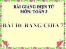 Bài giảng Bảng chia 7 - Toán 3 - GV.Ng.P.Hùng