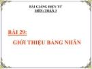 Bài giảng Giới thiệu bảng nhân - Toán 3 - GV.Ng.P.Hùng