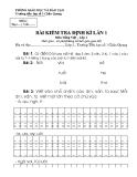 Đề kiểm tra 1 tiết Toán và Tiếng Việt 1
