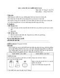 Giáo án Công nghệ 8 bài 6: Bản vẽ các khối tròn xoay