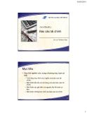 Bài giảng Nguyên lý kế toán (Lê Thị Minh Châu) - Chuyên đề 2 Báo cáo tài chính