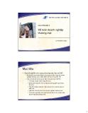 Bài giảng Nguyên lý kế toán (Lê Thị Minh Châu) - Chuyên đề 5 Kế toán doanh nghiệp thương mại