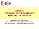 Bài giảng Quản trị thương hiệu  (Nguyễn Tiến Dũng) - Chương 1 Tổng quan về thương hiệu và quản trị thương hiệu