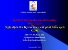 Kinh tế tài nguyên và môi trường (PGS Bùi Xuân Hồi) - Chương 5 Nghị định thư Kyoto và cơ chế phát triển sạch CDM