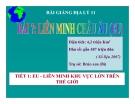 Bài giảng Liên minh Châu Âu (EU) (T1) - Địa lý 11 - GV.Ng Thị Minh