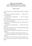 Đề thi và đáp án Nghề phổ thông  môn Lý thuyết Tin học văn phòng - THPT Thiên Hộ Dương 2011