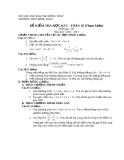 Đề kiểm tra HK2 Toán 10 - THPT Hồng Ngự 1 2012-2013 (kèm đáp án)