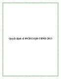 Quyết định số 09/2013/QĐ-UBND 2013