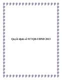 Quyết định số 917/QĐ-UBND 2013