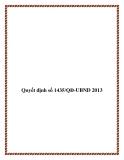 Quyết định số 1435/QĐ-UBND 2013