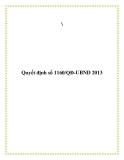 Quyết định số 1160/QĐ-UBND 2013