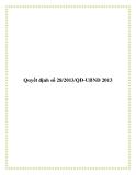 Quyết định 28/2013/QĐ-UBND 2013