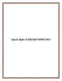 Quyết định số 828/QĐ-UBND 2013