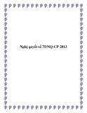 Nghị quyết số 75/NQ-CP 2013